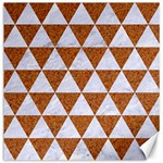 TRIANGLE3 WHITE MARBLE & RUSTED METAL Canvas 20  x 20   20 x20 Canvas - 1