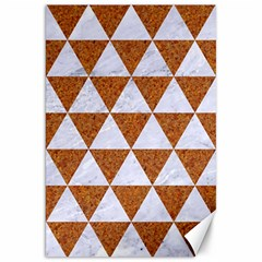 Triangle3 White Marble & Rusted Metal Canvas 20  X 30   by trendistuff