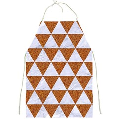 Triangle3 White Marble & Rusted Metal Full Print Aprons by trendistuff