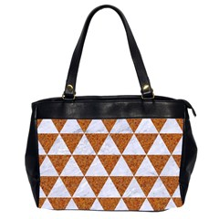 Triangle3 White Marble & Rusted Metal Office Handbags (2 Sides)