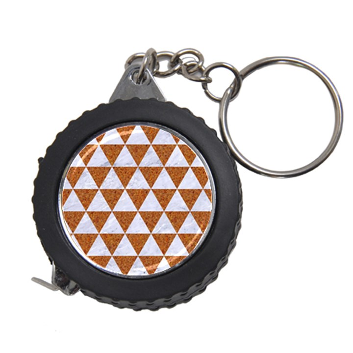 TRIANGLE3 WHITE MARBLE & RUSTED METAL Measuring Tape