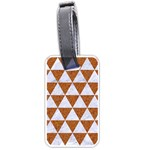 TRIANGLE3 WHITE MARBLE & RUSTED METAL Luggage Tags (One Side)  Front