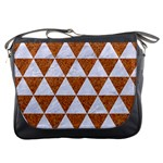 TRIANGLE3 WHITE MARBLE & RUSTED METAL Messenger Bags Front