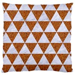 TRIANGLE3 WHITE MARBLE & RUSTED METAL Large Cushion Case (Two Sides) Back