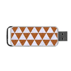 Triangle3 White Marble & Rusted Metal Portable Usb Flash (two Sides)