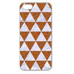 TRIANGLE3 WHITE MARBLE & RUSTED METAL Apple Seamless iPhone 5 Case (Clear) Front