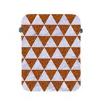 TRIANGLE3 WHITE MARBLE & RUSTED METAL Apple iPad 2/3/4 Protective Soft Cases Front