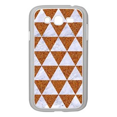 Triangle3 White Marble & Rusted Metal Samsung Galaxy Grand Duos I9082 Case (white)