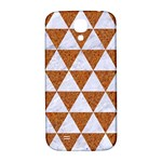 TRIANGLE3 WHITE MARBLE & RUSTED METAL Samsung Galaxy S4 I9500/I9505  Hardshell Back Case Front