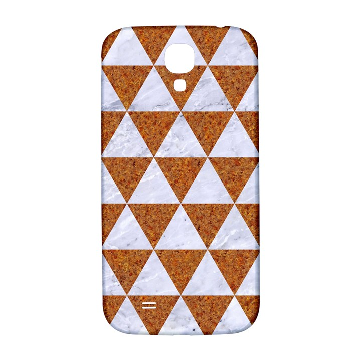 TRIANGLE3 WHITE MARBLE & RUSTED METAL Samsung Galaxy S4 I9500/I9505  Hardshell Back Case