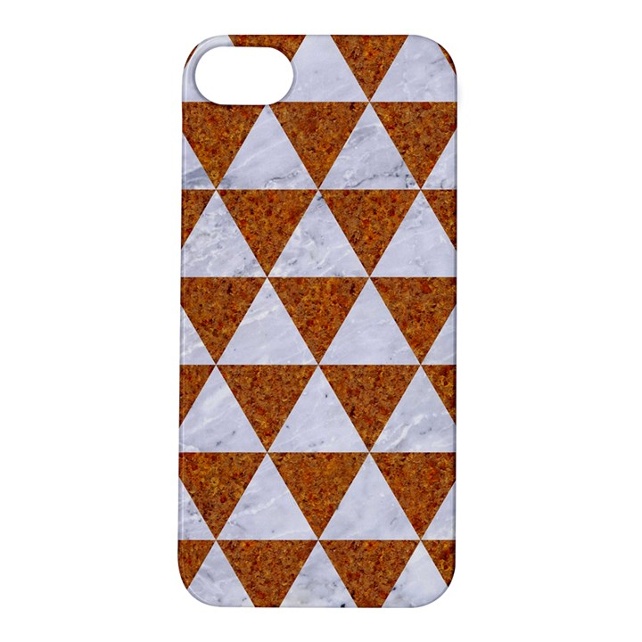 TRIANGLE3 WHITE MARBLE & RUSTED METAL Apple iPhone 5S/ SE Hardshell Case