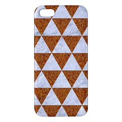 Triangle3 White Marble & Rusted Metal Iphone 5s/ Se Premium Hardshell Case