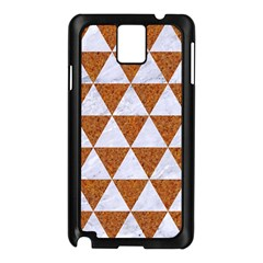 Triangle3 White Marble & Rusted Metal Samsung Galaxy Note 3 N9005 Case (black) by trendistuff