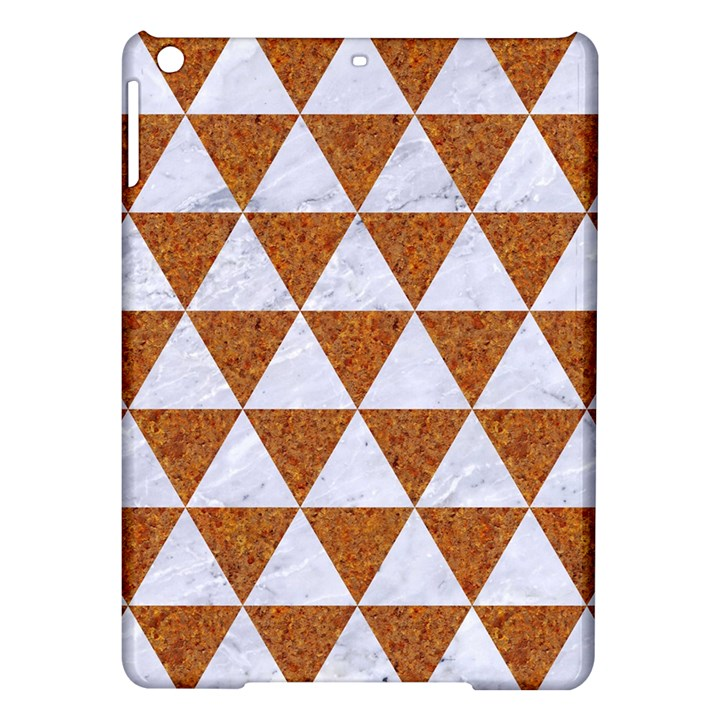 TRIANGLE3 WHITE MARBLE & RUSTED METAL iPad Air Hardshell Cases