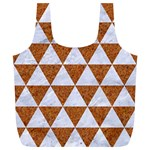 TRIANGLE3 WHITE MARBLE & RUSTED METAL Full Print Recycle Bags (L)  Front