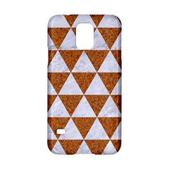 Triangle3 White Marble & Rusted Metal Samsung Galaxy S5 Hardshell Case