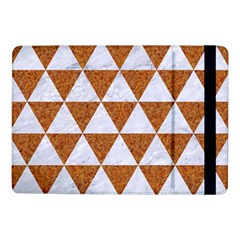 Triangle3 White Marble & Rusted Metal Samsung Galaxy Tab Pro 10 1  Flip Case