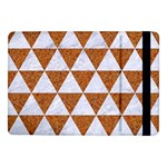 TRIANGLE3 WHITE MARBLE & RUSTED METAL Samsung Galaxy Tab Pro 10.1  Flip Case Front