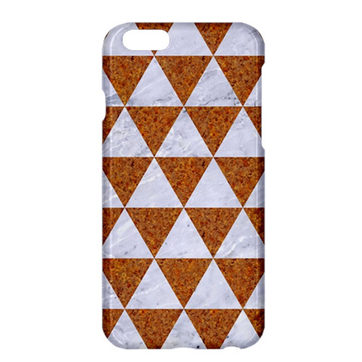 TRIANGLE3 WHITE MARBLE & RUSTED METAL Apple iPhone 6 Plus/6S Plus Hardshell Case