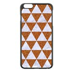 TRIANGLE3 WHITE MARBLE & RUSTED METAL Apple iPhone 6 Plus/6S Plus Black Enamel Case Front