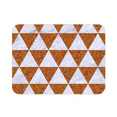 Triangle3 White Marble & Rusted Metal Double Sided Flano Blanket (mini)