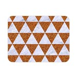 TRIANGLE3 WHITE MARBLE & RUSTED METAL Double Sided Flano Blanket (Mini)  35 x27 Blanket Front