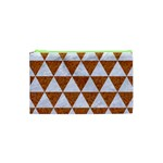TRIANGLE3 WHITE MARBLE & RUSTED METAL Cosmetic Bag (XS) Front