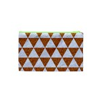 TRIANGLE3 WHITE MARBLE & RUSTED METAL Cosmetic Bag (XS) Back