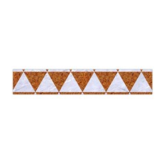 Triangle3 White Marble & Rusted Metal Flano Scarf (mini)