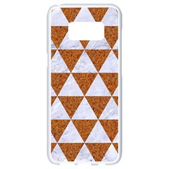 Triangle3 White Marble & Rusted Metal Samsung Galaxy S8 White Seamless Case