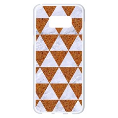 Triangle3 White Marble & Rusted Metal Samsung Galaxy S8 Plus White Seamless Case by trendistuff