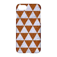 Triangle3 White Marble & Rusted Metal Apple Iphone 8 Hardshell Case
