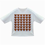 TRIANGLE2 WHITE MARBLE & RUSTED METAL Infant/Toddler T-Shirts