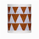 TRIANGLE2 WHITE MARBLE & RUSTED METAL White Mugs Center