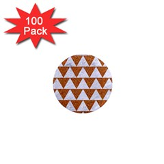 TRIANGLE2 WHITE MARBLE & RUSTED METAL 1  Mini Magnets (100 pack)