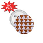 TRIANGLE2 WHITE MARBLE & RUSTED METAL 1.75  Buttons (100 pack)