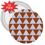 TRIANGLE2 WHITE MARBLE & RUSTED METAL 3  Buttons (10 pack)