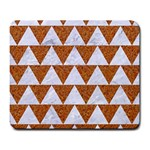 TRIANGLE2 WHITE MARBLE & RUSTED METAL Large Mousepads
