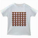 TRIANGLE2 WHITE MARBLE & RUSTED METAL Kids White T-Shirts