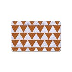 TRIANGLE2 WHITE MARBLE & RUSTED METAL Magnet (Name Card)
