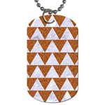 TRIANGLE2 WHITE MARBLE & RUSTED METAL Dog Tag (One Side)