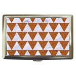 TRIANGLE2 WHITE MARBLE & RUSTED METAL Cigarette Money Cases