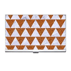 TRIANGLE2 WHITE MARBLE & RUSTED METAL Business Card Holders