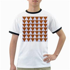 TRIANGLE2 WHITE MARBLE & RUSTED METAL Ringer T-Shirts