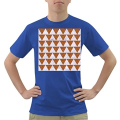 TRIANGLE2 WHITE MARBLE & RUSTED METAL Dark T-Shirt