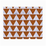 TRIANGLE2 WHITE MARBLE & RUSTED METAL Small Glasses Cloth Front