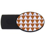 TRIANGLE2 WHITE MARBLE & RUSTED METAL USB Flash Drive Oval (4 GB) Front