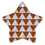 TRIANGLE2 WHITE MARBLE & RUSTED METAL Star Ornament (Two Sides) Front