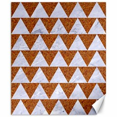 TRIANGLE2 WHITE MARBLE & RUSTED METAL Canvas 8  x 10