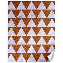 TRIANGLE2 WHITE MARBLE & RUSTED METAL Canvas 12  x 16